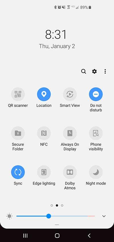 Do Not Disturb setting on a Samsung S10.
